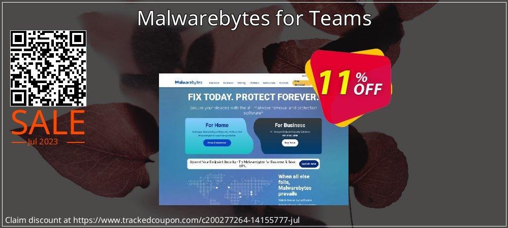 Malwarebytes for Teams coupon on National Family Day offer