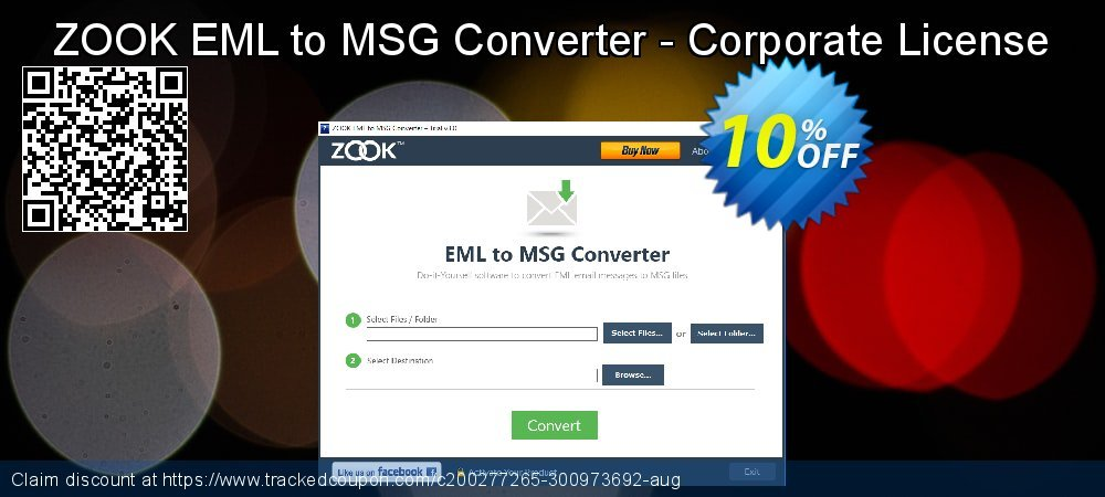 Get 10% OFF ZOOK EML to MSG Converter - Corporate License offer