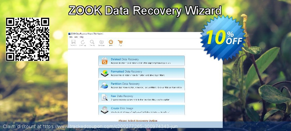Get 10% OFF ZOOK Data Recovery Wizard offering sales