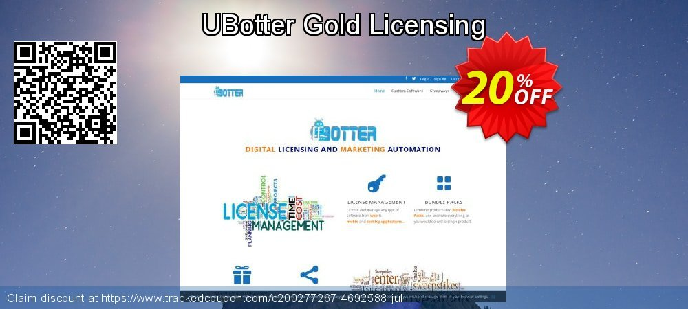 UBotter Gold Licensing coupon on IT Professionals Day deals