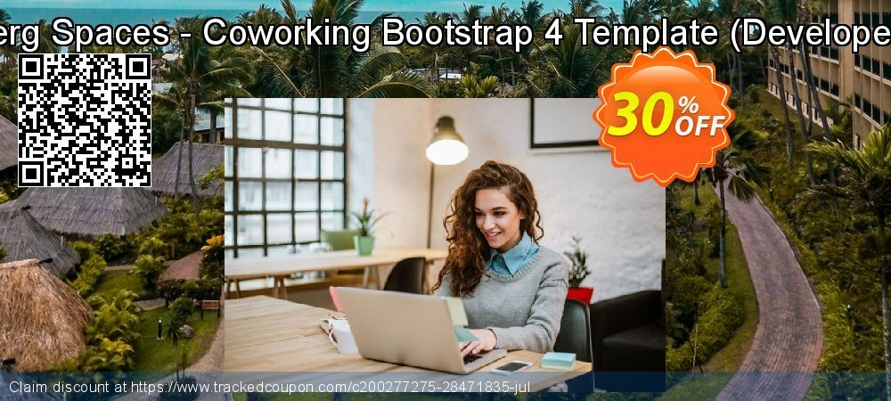 Get 30% OFF Themesberg Spaces - Coworking Bootstrap 4 Template (Developer License) offering sales