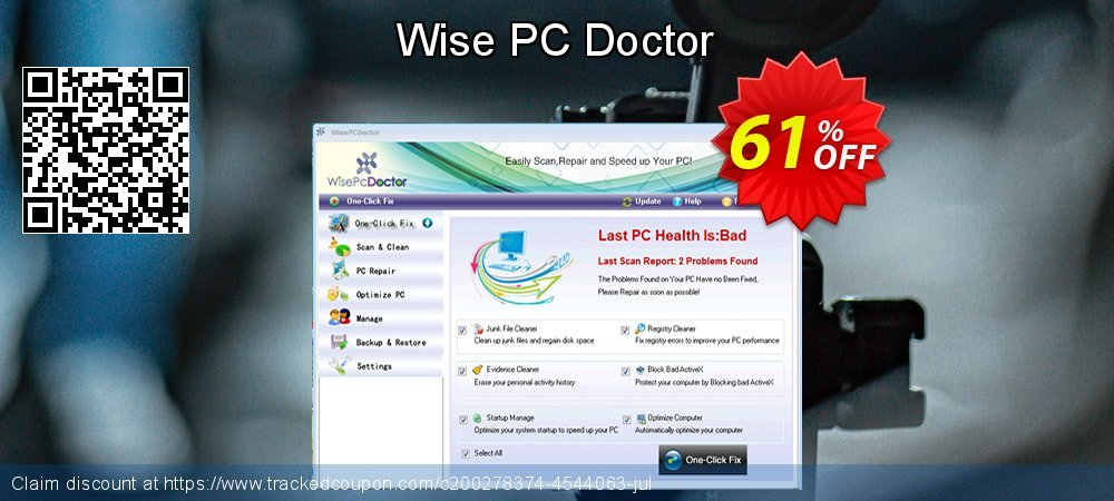 Wise PC Doctor coupon on Father's Day discount