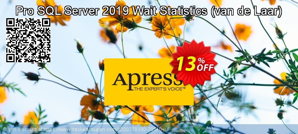 Pro SQL Server 2019 Wait Statistics - van de Laar  coupon on Natl. Doctors' Day super sale