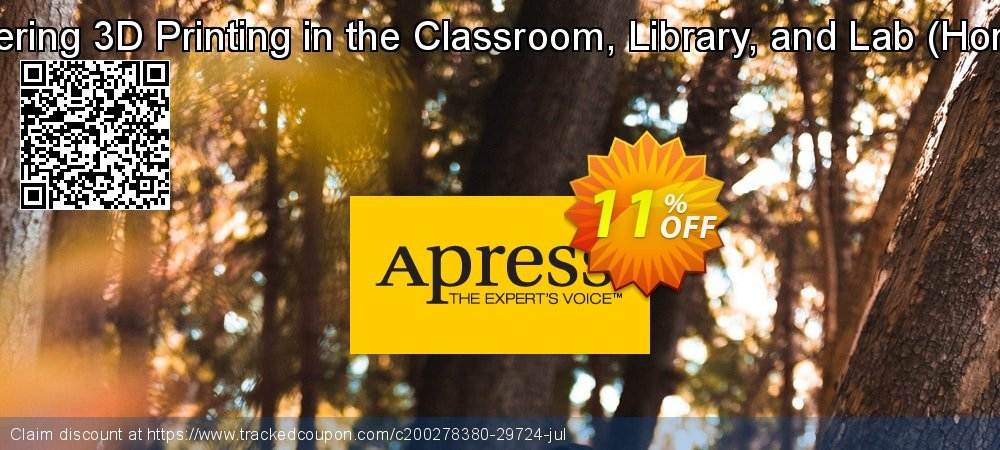 Get 10% OFF Mastering 3D Printing in the Classroom, Library, and Lab (Horvath) offering sales