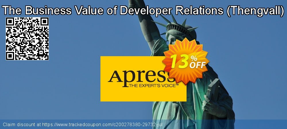 Get 10% OFF The Business Value of Developer Relations (Thengvall) promo sales