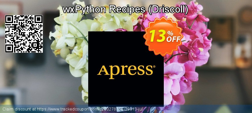 Get 10% OFF wxPython Recipes (Driscoll) offering sales