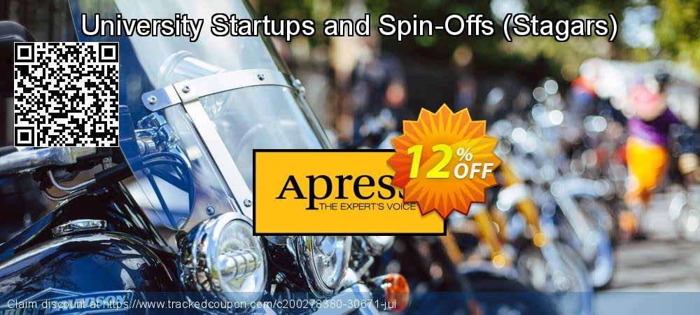 Get 10% OFF University Startups and Spin-Offs (Stagars) offering sales
