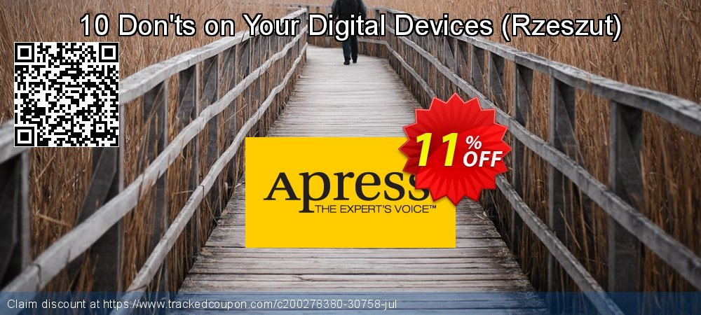 Get 10% OFF 10 Don'ts on Your Digital Devices (Rzeszut) offering sales