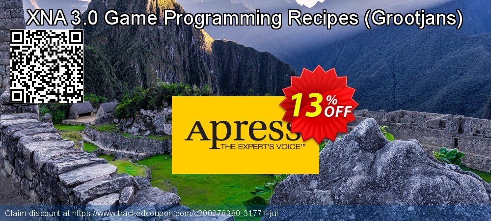 Get 10% OFF XNA 3.0 Game Programming Recipes (Grootjans) promo