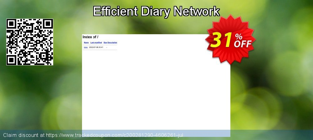 Get 30% OFF Efficient Diary Network offering sales