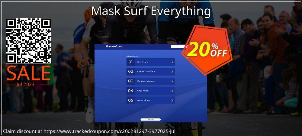 Get 20% OFF Mask Surf Everything offering sales