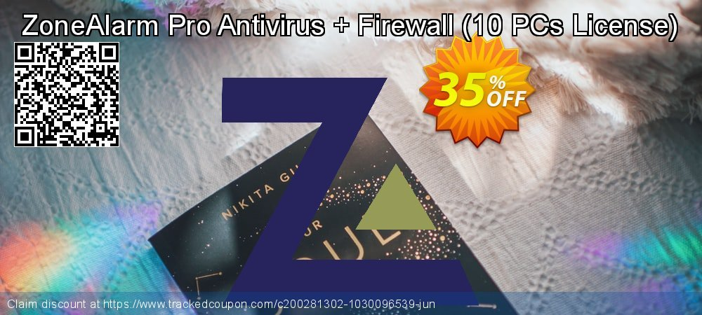 ZoneAlarm Pro Antivirus + Firewall - 10 PCs License  coupon on Lunar New Year promotions