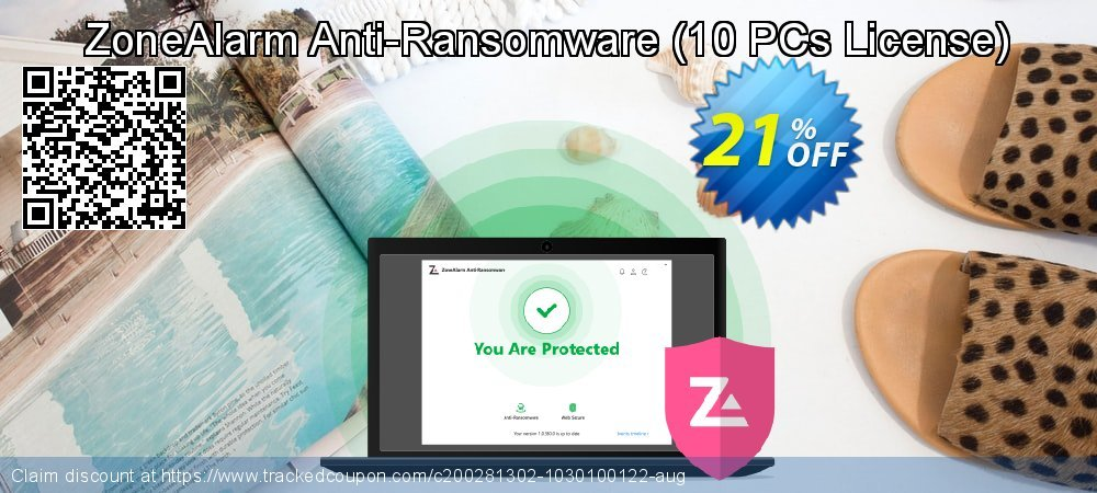 ZoneAlarm Anti-Ransomware - 10 PCs License  coupon on Happy New Year sales