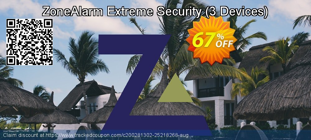 ZoneAlarm Extreme Security - 3 Devices  coupon on New Year super sale