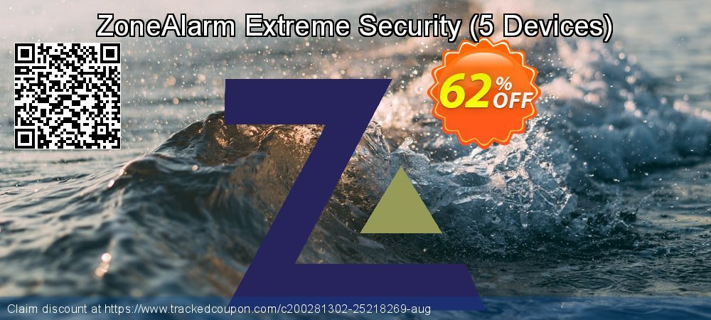 ZoneAlarm Extreme Security - 5 Devices  coupon on New Year's Day discounts