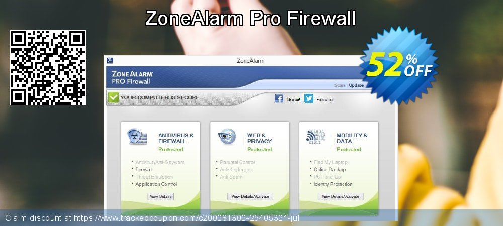 ZoneAlarm Pro Firewall coupon on New Year's Day discount
