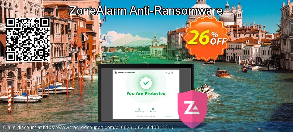 ZoneAlarm Anti-Ransomware coupon on Happy New Year promotions