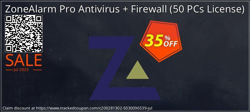 ZoneAlarm Pro Antivirus + Firewall - 50 PCs License  coupon on Lunar New Year discount