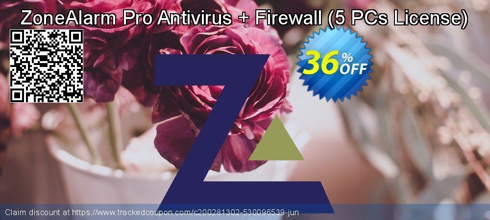 ZoneAlarm Pro Antivirus + Firewall - 5 PCs License  coupon on Lunar New Year discount