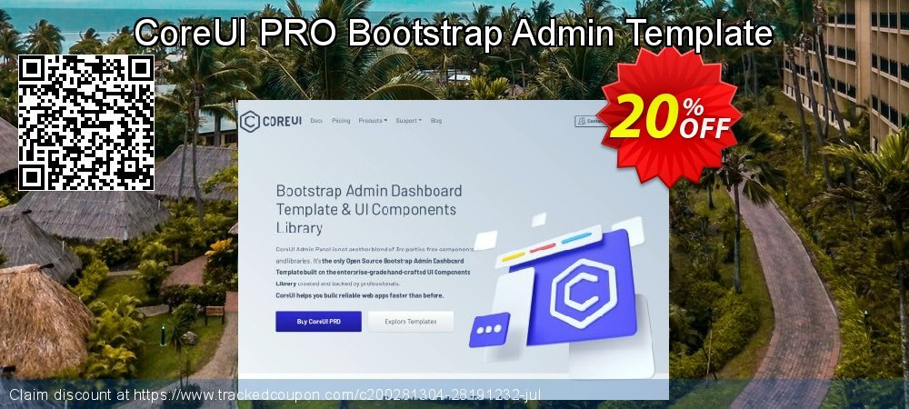 CoreUI PRO Bootstrap Admin Template coupon on Thanksgiving discount