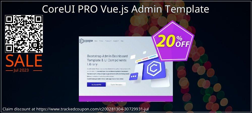CoreUI PRO Vue.js Admin Template coupon on Black Friday sales