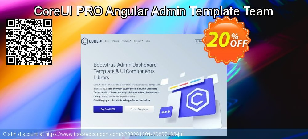 CoreUI PRO Angular Admin Template Team coupon on Thanksgiving deals