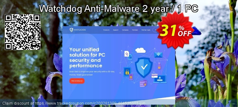 Watchdog Anti-Malware 2 year / 1 PC coupon on Easter Sunday discount