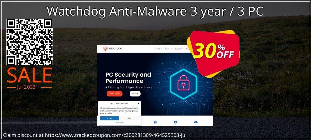 Watchdog Anti-Malware 3 year / 3 PC coupon on Spring offering sales