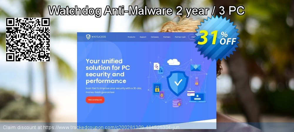 Watchdog Anti-Malware 2 year / 3 PC coupon on April Fool's Day super sale