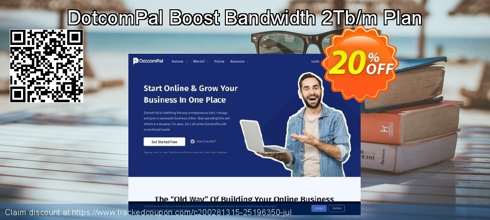DotcomPal Boost Bandwidth 2Tb/m Plan coupon on Thanksgiving promotions