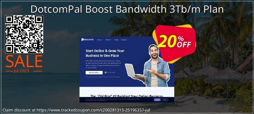 DotcomPal Boost Bandwidth 3Tb/m Plan coupon on Black Friday super sale