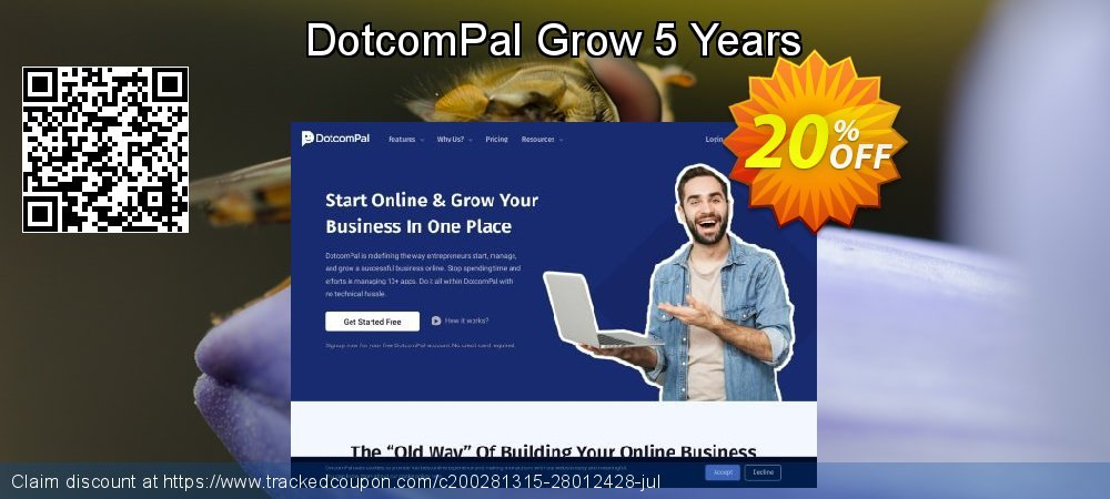 DotcomPal Grow 5 Years coupon on Thanksgiving offering discount