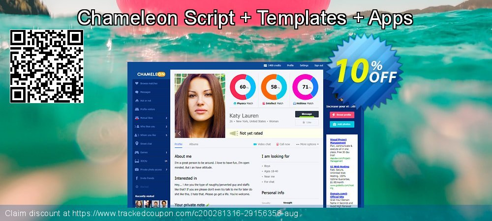 Chameleon Script + Templates + Apps coupon on Thanksgiving promotions