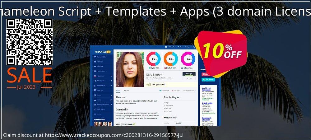 Chameleon Script + Templates + Apps - 3 domain License  coupon on Black Friday offer