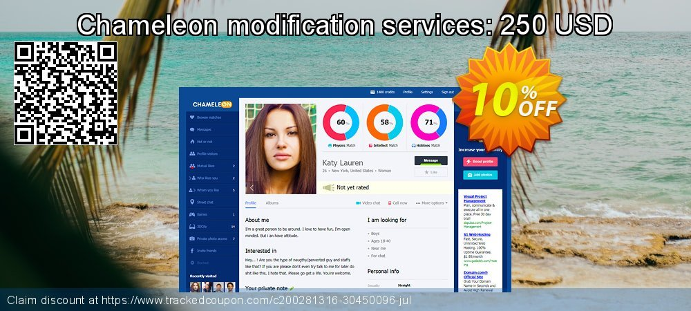 Chameleon modification services: 250 USD coupon on Thanksgiving offering sales