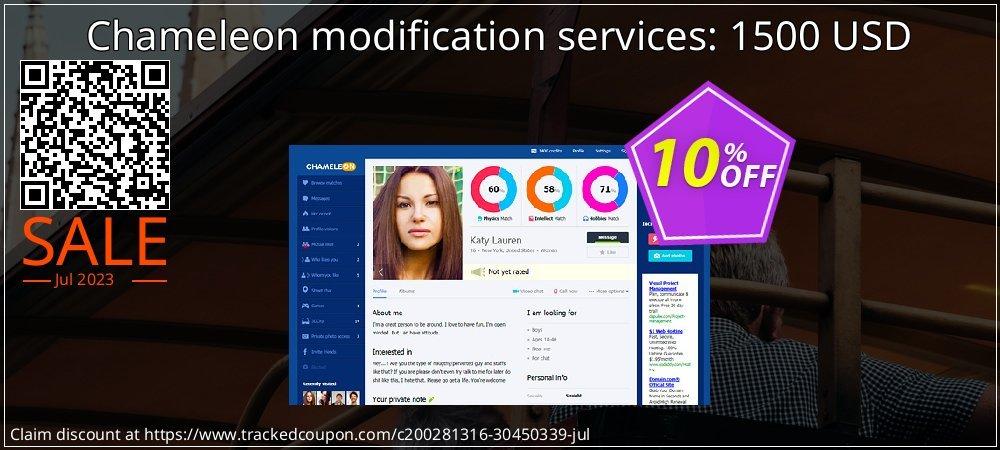 Chameleon modification services: 1500 USD coupon on Parents' Day deals