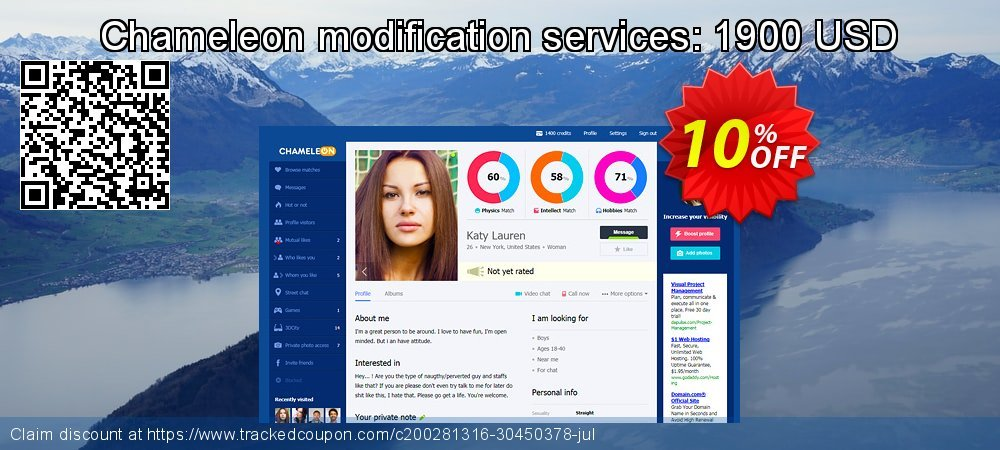 Chameleon modification services: 1900 USD coupon on Thanksgiving promotions
