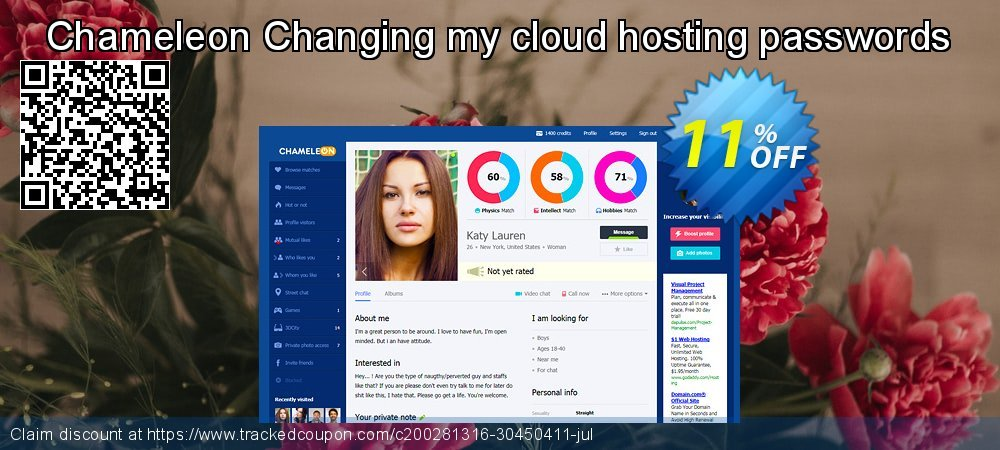 Chameleon Changing my cloud hosting passwords coupon on End year super sale