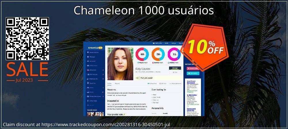 Chameleon 1000 usuários coupon on Christmas super sale