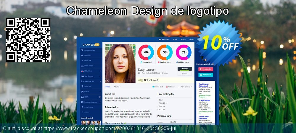 Chameleon Design de logotipo coupon on Black Friday offering discount