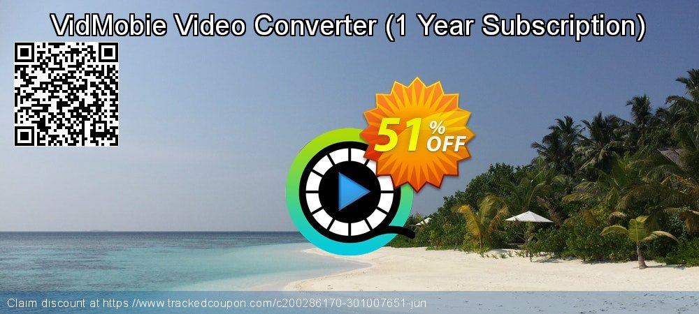 VidMobie Video Converter - 1 Year Subscription  coupon on World Oceans Day promotions