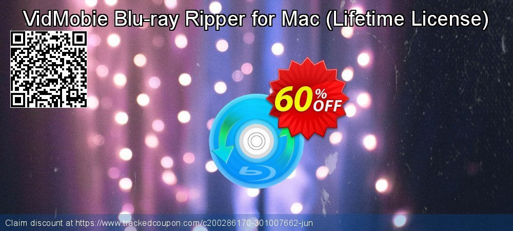 VidMobie Blu-ray Ripper for Mac - Lifetime License  coupon on World Bicycle Day deals