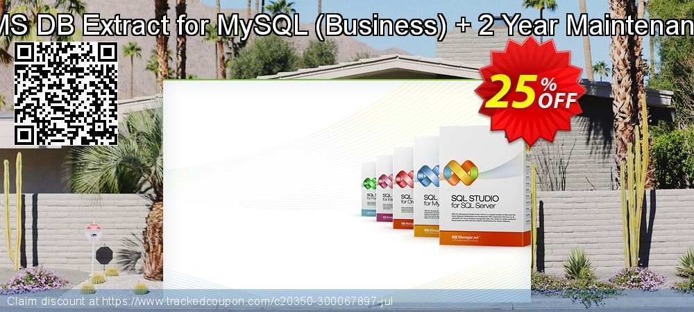 EMS DB Extract for MySQL - Business + 2 Year Maintenance coupon on Exclusive Teacher discount discount