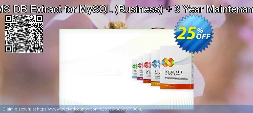 Get 20% OFF EMS DB Extract for MySQL (Business) + 3 Year Maintenance offering sales