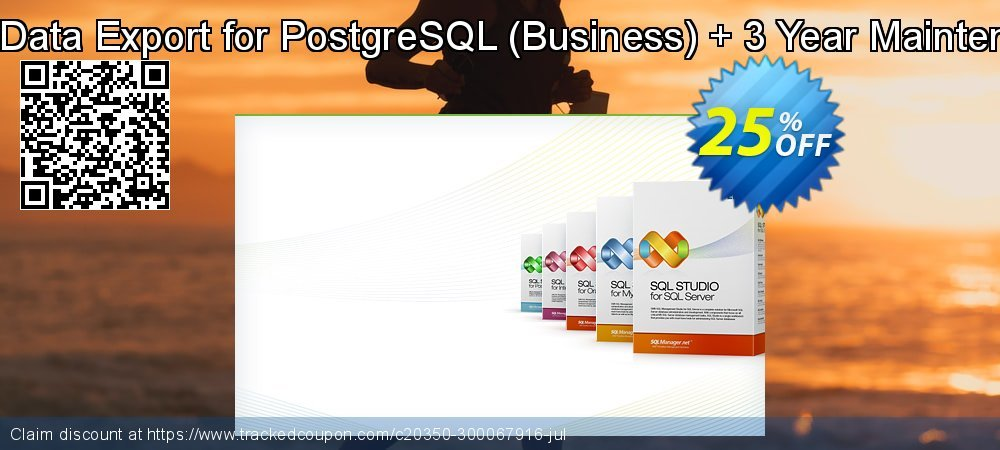 EMS Data Export for PostgreSQL - Business + 3 Year Maintenance coupon on University Student deals offering discount
