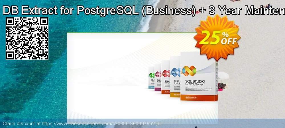 EMS DB Extract for PostgreSQL - Business + 3 Year Maintenance coupon on Halloween offering sales
