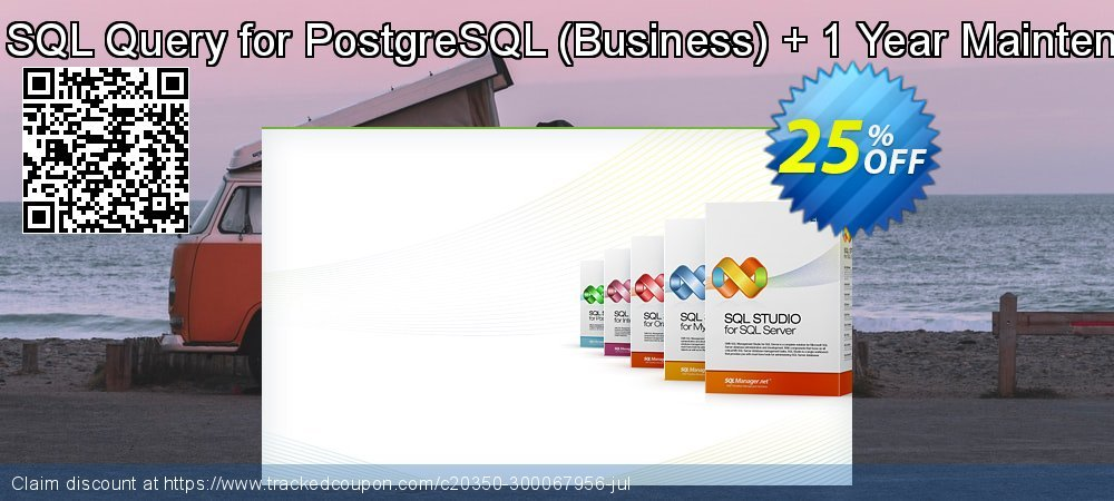 EMS SQL Query for PostgreSQL - Business + 1 Year Maintenance coupon on Back to School promotions promotions