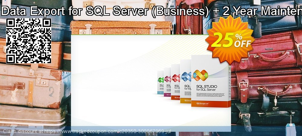 EMS Data Export for SQL Server - Business + 2 Year Maintenance coupon on Halloween offering discount