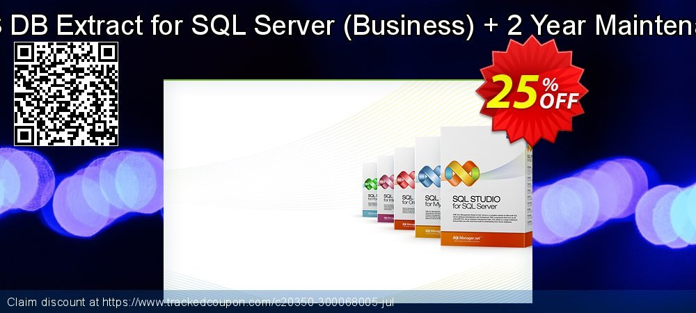 EMS DB Extract for SQL Server - Business + 2 Year Maintenance coupon on Back to School promo discount