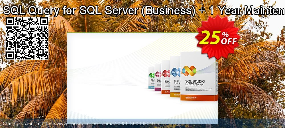 EMS SQL Query for SQL Server - Business + 1 Year Maintenance coupon on Back to School offer promotions